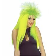 Perücke Punk-girl Neon