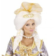 Karnevalsaccessoires: Perücke Phantasy Queen mit Tiara