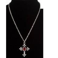 Karnevalsaccessoires: Halskette Gotik Kreuz