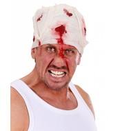 Karnevalsaccessoires: Blutigen Verband um den Kopf