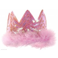 Karnevalsaccessoires: Krone mit Pailletten (rosa)