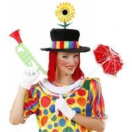 Karnevals-zubehör samter Clownshut mit Blume