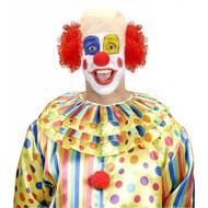 Faschings-accessoiren Clownsglatze mit Locken und rote Nase