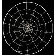 Halloweenaccessoires: Spinnennetz mit Spinne 78 cm