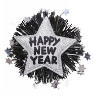 Sylvester-accessoires silberne Brosche Happy New Year