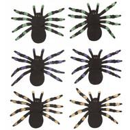 Halloween Accessoires: Set aus 2 spinnen mit glanz Muster 12cm
