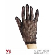 Karnevals-accessoires: Netzhandschuhe schwarz