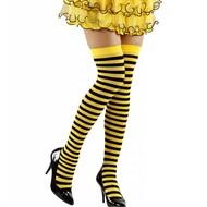 Karnevalsaccessoires: Biene-strumpfe