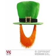 Karnevals-zubehör samter grüner Hut mit Bart