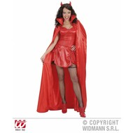 Karnevalscape: Rote Satin cape 158cm
