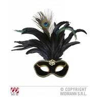 Augenmasken schwarz mit gold