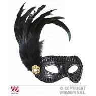 Augenmasken Schwarz mit Edelsteine