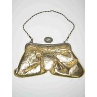 Galatasche: Tasche aus Lameestoff, mit gold/metall Kette (lang)