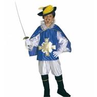 Karnevalskostüm: Musketier (Rot oder Blau)