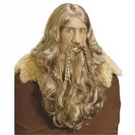 Wicking-Perücke mit Bart und Schnurrbart