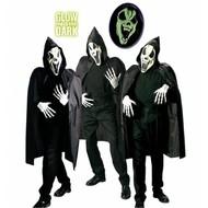 Maske: Dunkele Geist mit Mantel und Kragen