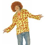 Karnevalsbluse: Hippie- Flowerpower - shirt
