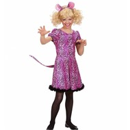 Faschingsklamotten: Kinder Leopardchen rosa