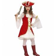 Mädchen Piratenkapitän Beige