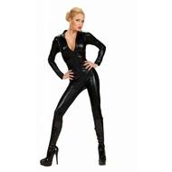 Karnevals-Kleidung: Catsuit schwarz