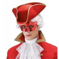 Augenmasken in Metallic rote Farbe