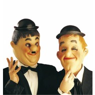 Masken: Laurel und Hardy