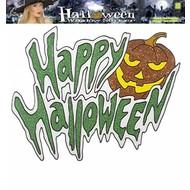 """Halloweenaccessoires: fenster-aufkleber """"Happy Halloween"""" (36 cm)"""