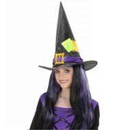Halloweenaccessoires: Hexehut Kind mit Patches