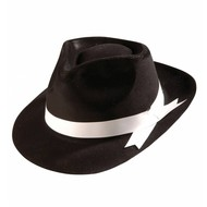 Kopfbedeckung Gangsterhut