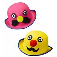 Faschings-accessoiren Phantasie Hut mit Schnurrbart