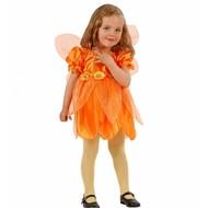 Karnevalskostüm: Kleine orange Blumenfee