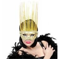 Faschingsmasken gold mit holografischen Fühlern