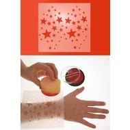 Schmink-benodigheden: Sjabloon voor schminkfiguren sterren