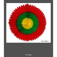 Feestaccessoires: Waaier Rood/Geel/Groen