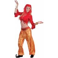 Oranje buikdanseressen broek voor dames