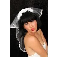 Haarband met bruidsluier luxe