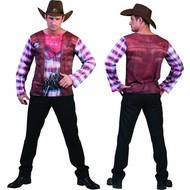 Cowboy shirt 3D volwassenen