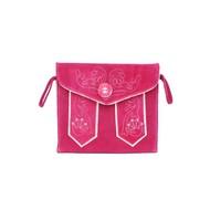 Tiroler handtasje in roze