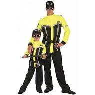 Fluor gele politiepakjes voor kinderen