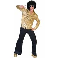 Gouden party shirts met glitter