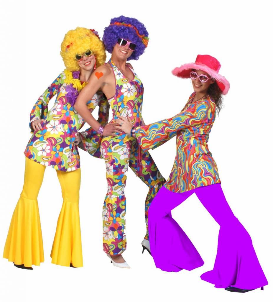 party kostuums hippy flower power shirt. Black Bedroom Furniture Sets. Home Design Ideas