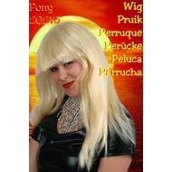 Carnaval- & feest accessoires: Pruik, lang haar met pony