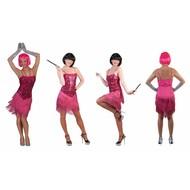 Roze glitter Charleston jurkjes