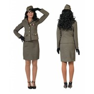 Militair mantelpakje voor dames