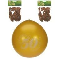 Jubileumballon 50 jaar metalic goud