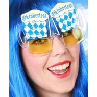 Oktoberfest brillen met bierpullen