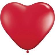 Themaballon rode hartjes per 6 32cm