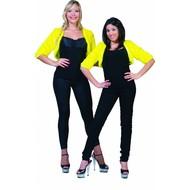 Bolero geel fuzzy voor dames