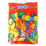 Ballon 100x assortie mt 9 / 25cm