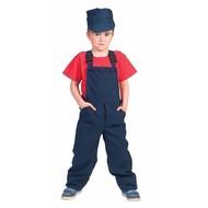 Blauwe overalls voor kinderen